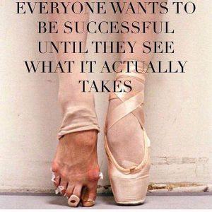Tout le monde souhaite connaître le succès jusqu'à ce que l'on realise les efforts que cela demande vraiment.  (Photo utilisé à partir de Twitter, compte @L0laWilliams)